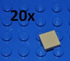 LEGO PARTS - 20X 1X1 TAN TILES/FLAT BUILDING PIECES/BULK PANELS/3070/BEIGE/SAND