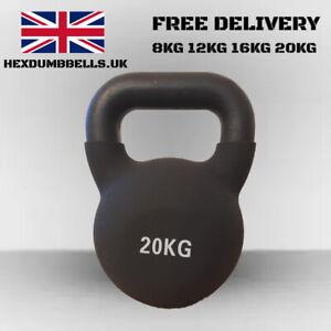 Cast Iron Kettlebells 8kg /12kg /16kg / 20kg Neoprene Covered