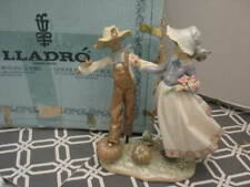 Rare Lladro #5385 Scarecrow and the Lady Fall Porcelain Figure In Box Mint 1986