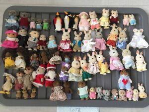 Huge Collection of Sylvanian Families Figures Rare 60 Figures
