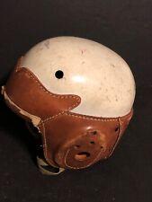 vintage antique Spaulding leather football helmet 32FH chin strap suspension