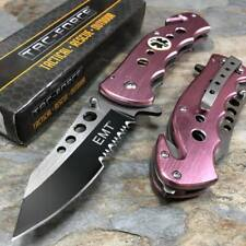 TAC-FORCE Pink EMS EMT Emergency Tactical Rescue Hunting Camping Pocket Knife