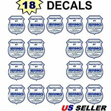 18 Home Security Alarm System Police Badge Warning Sticker Decal Signs Lot