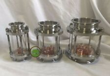 """1.5"""" 2"""" 3"""" 4"""" Glass Reflux Column Section with Copper Bubble Plate"""