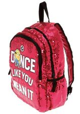 New Claire's Pink Sequin Minion Despicable Me Dance Like You Mean It Backpack