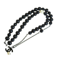 Auth CHANEL CC Long Imitation Pearl Pendant Necklace 05P Accessory 88EQ751