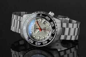 Aragon Divemaster 4 Stainless Steel Meteorite Automatic Watch A396 L.E.