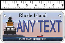 PERSONALIZED ALUMINUM MOTORCYCLE STATE LICENSE PLATE-RHODE ISLAND LIGHTHOUSE
