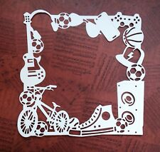 Gadget Frame Die Cuts - White - Pack Of 5