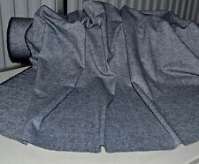 """Linen Cotton Navy White Heather Tweed 6.5 oz 54"""" Wide Fabric by the Yard"""