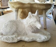 Wolf  mold for plaster or concrete latex and fiberglass support