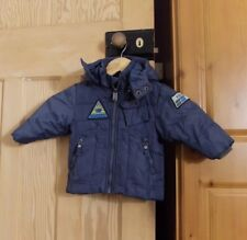 Baby Boy Blue Diesel Winter Jacket Coat Thick Padded Denim 9 Months