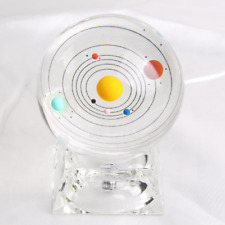 Crystal Solar System Ball 3D Glass Galaxy Miniature Universe Astronomy Planets h