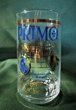 "Drinkware  VINTAGE PRIMO HAWAIIAN BEER GLASS Gold Accents  Barware 4 3/4"" H"