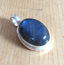 Labradorite 925 argent pendentif en cristal pierre précieuse bijoux nouvel âge de guérison