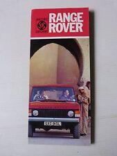 Catalogue prospectus : LAND ROVER 1975