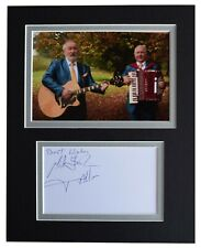 More details for foster & allen signed autograph 10x8 photo mount display irish music aftal coa