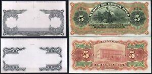 Costarica P-s173 5 Colone 1901-08 Proof on Card UNC Rare