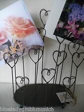 Foto Karten Halter ❤ Herz ❤ Eisen Memoboard HEART Card Photo Holder porte-photo