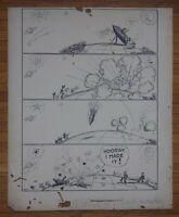 Original, Vintage Editorial Cartoon, Frank Kettlewell, Oakland Tribune