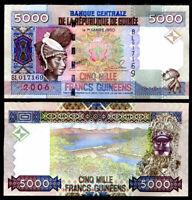 GUINEA 5000 5,000 FRANCS 2006 P 41 UNC
