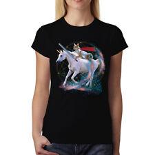 Unicorn Cat Galaxy Womens T-shirt XS-3XL