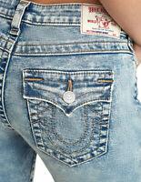 True Religion Women's Halle Skinny Fit Stretch Jeans w/ Rips in Martian Moon