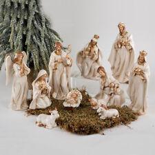 Krippenfiguren Set 11-teilig Porzellan creme-gold Heilige Familie formano 787965