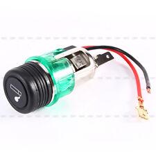 Green 12V 120W Car Motorcycle Cigarette Lighter Power Socket Plug Outlet New