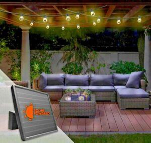 Sunforce 15 LED 10 M Warm White Outdoor Waterproof Solar String Lights Lithium