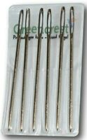 6 Pc Hand Sewing Large Eye Needles For Wool Thick Knitter Yarn or Darning