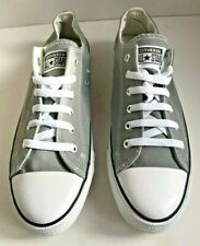 CONVERSE ALL STAR Light Grey Canvas Lace Up Sneakers Unisex UK10 EU44