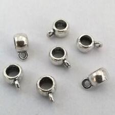 LOT de 25 BELIERES RONDES attache pendentif ARGENTE 8,5 x 6 x 4mm perles bijoux