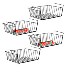 4 Pack Space Saving Under Shelf Hanging Basket Wire Rack Organizer Storage