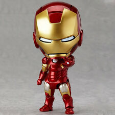 Cute ! Avengers Mini IRON MAN Tony Stark 10cm PVC Mark 7 Action Figure Set Toys