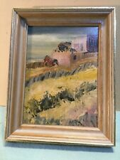 Framed Beach Scape Oil Painting