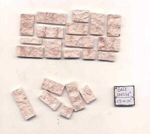 Cut Stone Veneer Brown AM0724 1/12 scale model building cast plaster resin
