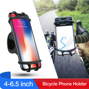 Bicycle Phone Silicone Holder Motorcycle Bike Handlebar Mount Stand GPS Bracket