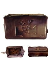 Tyler & tyler Brown Leather Rut Wash Bag