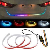 120CM RGB Car Trunk Tail LED Light Brake Gear Turn Signal Flow Strip Lamp