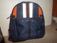 Gymboree Children's Reflective Backpack - School Bag - Navy Blue Orange Silver
