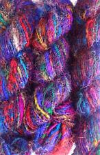 100Grams Himalaya Recycled Soft Pure Sari Silk Knit Woven Yarn 1 Skein