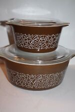 Set of 2 Pyrex Casserole Lidded Bowls