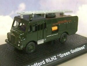 ATLAS/OXFORD 1/76 BEDFORD RLHZ GREEN GODDESS ENGINE HOME OFFICE FIRE SERVICE
