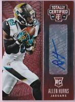 ALLEN HURNS RC 2014 TOTALLY CERTIFIED RED AUTO #38/50 AUTOGRAPH ROOKIE