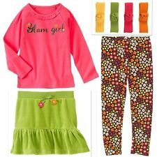 NWT Gymboree FALL FOR AUTUMN Girls Size 3 Skirt Top Leggings Hair Clips 4-PC SET