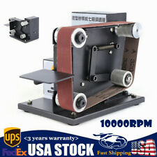 10000rpm Grinder Mini Electric Belt Sander DIY Polishing 7-gear Adjustable +Belt