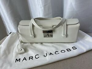 Marc Jacobs Designer Ted Camden Off White Clutch Mini Bag