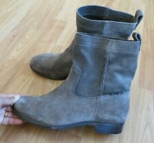 NWOB FRYE MID-CALF SUEDE GRAY BOOTS, SZ 9.5B