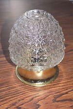 Vintage Clear ACORN Bubble Glass CEILING Lamp Light Fixture HOBNAIL NEW